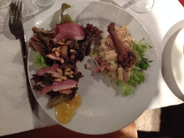 Salade van fazant met zuurkool